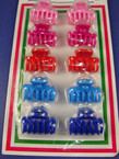 "10 Pack 1"" Jaw Clips Asst Colors 12-10 pks per bag .25 ea set"