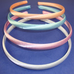 4 Pk Satin Headband Asst Pastels 48 pcs per pk