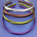 4 Pk Satin Headband Asst Fall Colors 48 pcs per pk