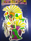 3 Asst Style Mardi Gras Wall Cut Outs 24 sest per bx