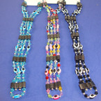 "35"" Magnetic Necklace/Bracelet Set Asst Colors Eye Beads .54 ea"