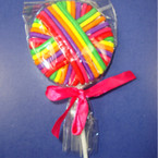 Lolly Pop w/ Asst Color Ponytail Holders .56 ea