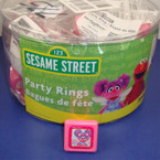 Abby Sesame Street Kids Ring 36 per Display Can