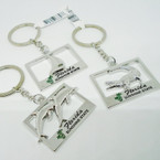 Silver Metal Florida Sunshine State Keychain Mixed Styles .54 ea