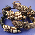 Teen Leather Bracelet w/ Asst Style Owls .54 ea