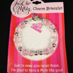 #1 Mom Charm Bracelet 24 per pk .85 ea