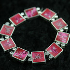 Hologram Eclectic Flic Bracelet w/ Crystal Stones Pink Love Theme 3 per pack ON SALE