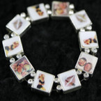 Hologram Diva Theme Bracelet w/ Crystal Stones 3 per pack ON SALE .50 ea pc