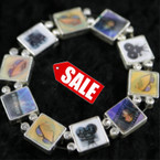 Hologram Hollywood Theme Bracelet w/ Crystal Stones 3 per pack SALE ITEM .50 ea pc