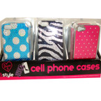 SIlicone iPhone Case Bling Styles Fits i5 24 per display bx