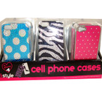 SIlicone iPhone Case Bling Styles Fits 4/4S 24 per display bx