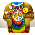 Med. Size Peace Sign Theme T-Shirt Style Gift Bag 8 per pk  .20 EACH