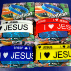 2 Pack Silicone I Love Jesus Bracelets .50 PER SET
