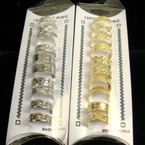 10 Pack Gold &amp; Silver Toe Rings w/ Design .52 PER SET