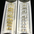 10 Pack Gold &amp; Silver Toe Rings w/ Design (1026) .54 PER SET