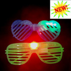 2 Style Light Up Shutter Novelty Glasses  12 per display bx ONLY .70 EACH