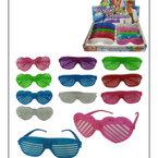 2 Style Light Up Shutter Novelty Glasses  12 per display bx