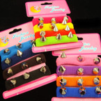 4 Pack Ponytail Holder w/ Silver Spikes .50