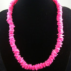 "16"" Chipped Puka Shell Necklace Hot Pink $ 1.00 ea"