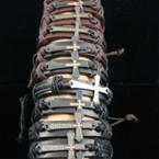 Teen Leather Bracelet w/ Asst Style Cross Charm .54 ea