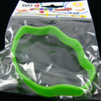 Tasty Silicone Bands Stackable & Scented Novelty Wavy Bands Neon Green sold by dz
