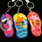 "2.5"" Flip Flop Tropical Theme Keychain .50 ea"