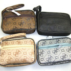 "3"" X 4.5"" G Print DBL Zipper Coin Purse w/ Handle & Keychain .58 ea"