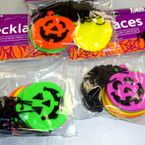 Plastic Iconic Halloween Jack-O'-Lantern Necklaces 6-6 pks per bag