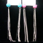 "5"" Fire Ball Style Earring w/ Dangle Chains .33 each"