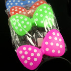 Flashing Novelty Poka Dot Headbands 12 per pack NOW .79 EA