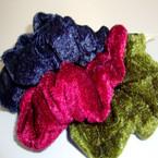 3 Pack Velvet Hair Twisters Asst Dark Colors 12-3 pks per bag