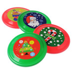 "6"" Christmas Theme Frisbees 12 per pack .45 ea"