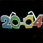 2014 New Year's Multi Color Novelty Glasses Diamond Look .08 ea