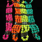 "35"" Magnetic Necklace/Bracelet w/ Neon Color Beads"