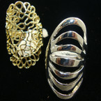 "1.5"" Gold & Silver Fashion Ring 2 styles per bx"