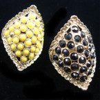Gold Fashion Ring w/ Mini Bubble Stones Mixed Colors