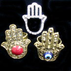 Asst Style Hand of Protection Rings Gold & Silver