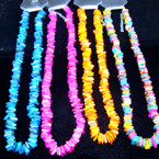 "18"" Asst Color Square Chipped Shell Necklace"