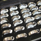 Silver Spinning Center Stainless Steel Men's Rings 24 per counter display