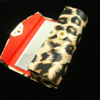 "3.25"" Mirror Lipstick Case Animal Print  .54 ea"