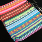 "4.5"" X 7.5"" Tribal Print Bag w/ Zipper & Strap"