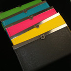 "4"" X 7"" Fashionable Asst Bright Color Vinyl Cushioned Wallet"