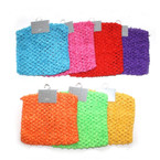 "5.5"" X 5.5"" Asst Bright Color Crochet Headwraps  12 per pk .42 ea"