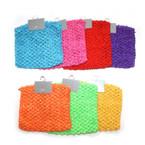 "5.5"" X 5.5"" Asst Bright Color Crochet Headwraps  12 per pk .42 ea"