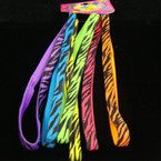6 Pk Stretch Headbands w/ Neon Zebra Prints .54 per set