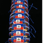 Teen Leather Bracelet w/ Haiti Flag Metal Plaque .57 ea