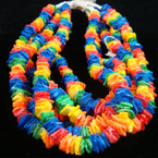 "16"" Rainbow Color Puka Shell Choker $ 1.00 ea"