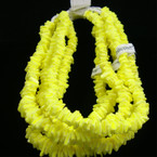 "16"" NEON Yellow Color Puka Shell Choker $ 1.00 ea"