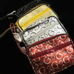 "3"" X 4""  Mini Metalic G Print Handbag w/ Handle & Keychain  Asst Colors .56 ea"