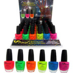 Glo in the Dark Nail Polish HOT COLORS 36 pc display unit .55 ea